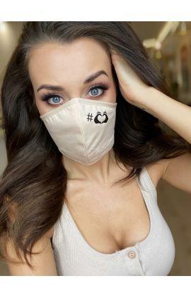 Masque alternatif réutilisable 100% Coton de luxe 3 couches